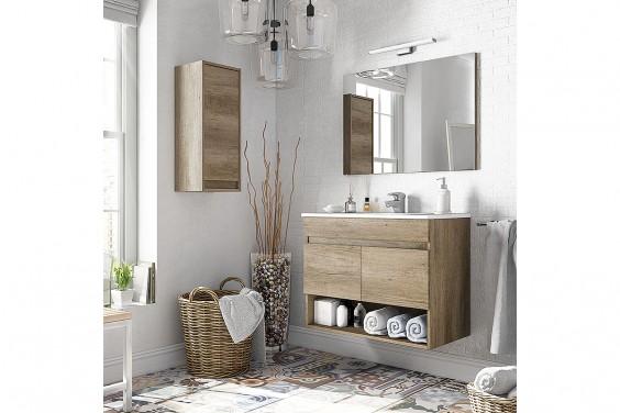 Mueble de Baño 2 Puertas y Espejo COTTON
