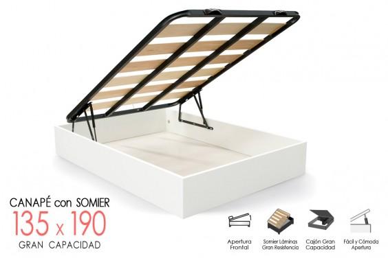 Canape 135x190 ECO Blanco
