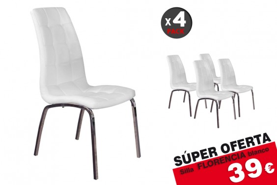 4 sillas salón FLORENCIA Blanco 39€ /u.