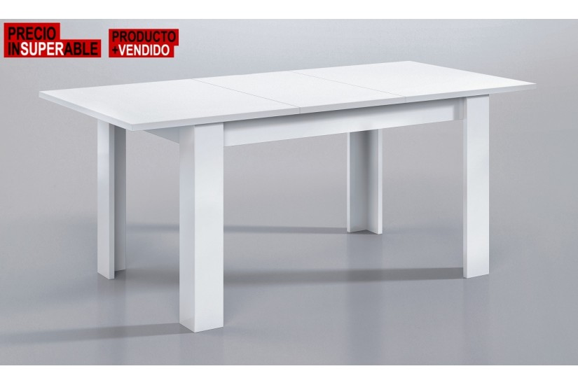 Mesa de sal n comedor extensible 140 190 cm for Mesas de comedor blancas extensibles