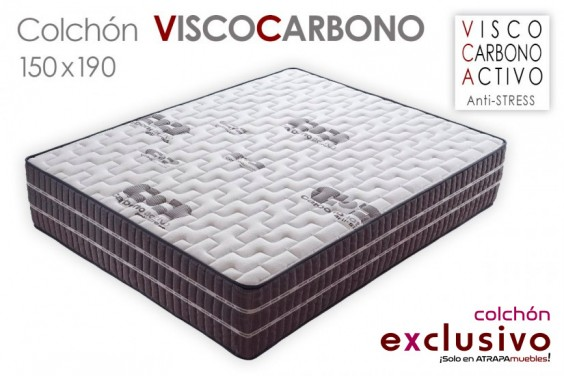 Colchón VISCO CARBONO 150x190