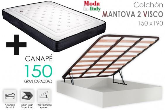 PACK Canapé ECO + Colchón MANTOVA VISCO 150