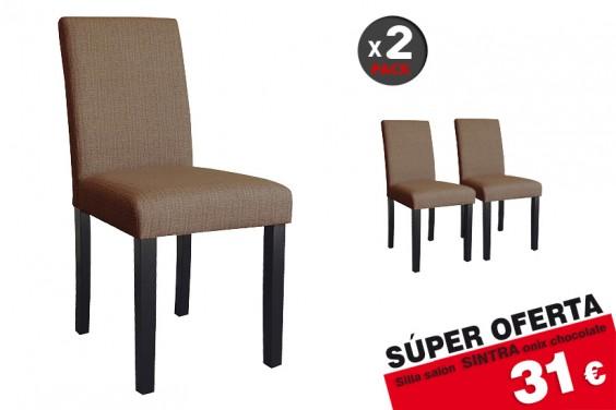 2 sillas salón Sintra Choco 31€ /u.
