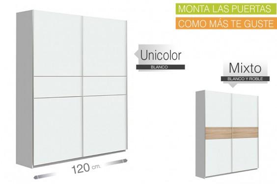 Armario correderas WINNER 120x210 Blanco