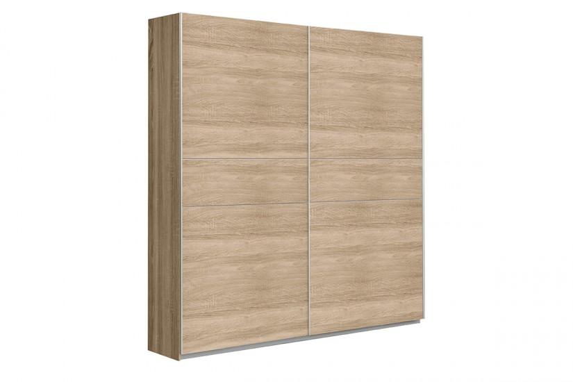 Armario 2 puertas correderas 120 cm en color roble sonoma - Puerta corredera 120 cm ...