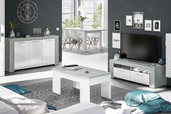 Mueble de salón TV AMBIT Cemento