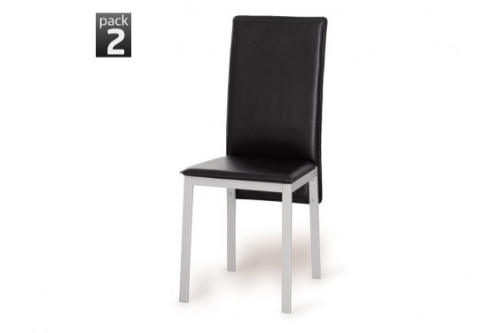 2 sillas salón SIMA Negro 31€/u