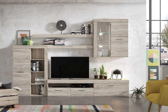 Mueble de salón - comedor moderno NIZA Roble al MEJOR PRECIO
