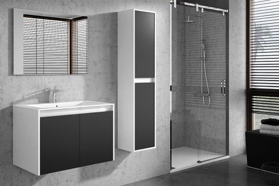 Mueble de Baño 2 Puertas y Espejo DUE