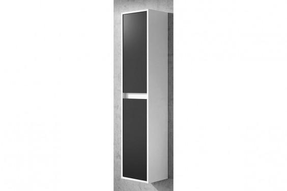 Columna de Baño 2 Puertas DUE Blanco Brillo y Gris Antracita