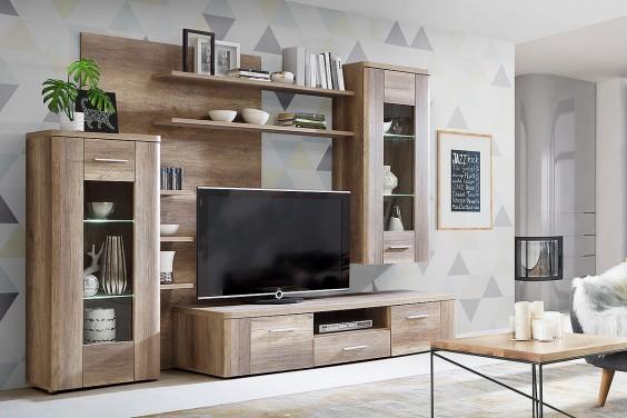 Mueble De Salon Comedor Moderno Buffalo Roble Al Mejor Precio