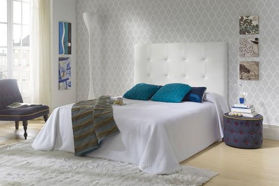 Cabecero de cama LOW Capitone Blanco