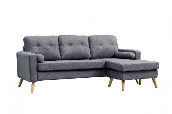 Chaiselongue ALVIN Gris Marengo Reversible