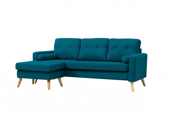 Chaiselongue ALVIN Azul Turquesa Reversible
