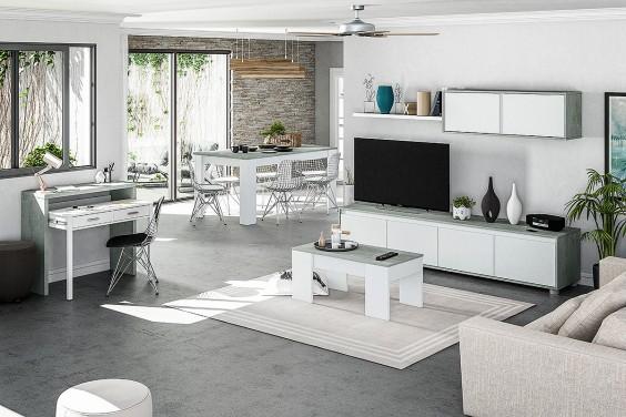 Mueble de salón ALIDA Cemento