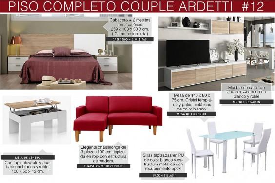 Piso completo 12 - COUPLE ARDETTI (CH Roja & Pack Mesa y Silla Blancas)