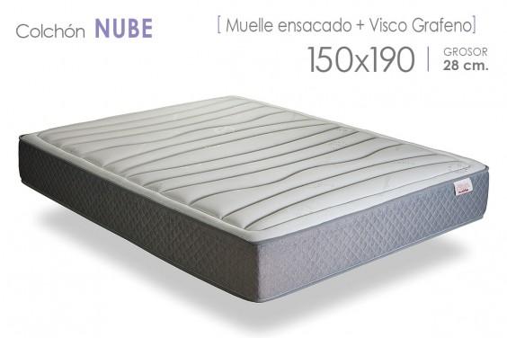 Colchón NUBE Muelles y ViscoGrafeno 150x190