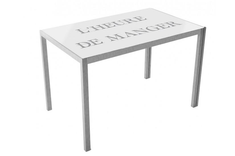 Mesa de cocina de cristal templado cica asfeld - Mesa cocina cristal templado ...