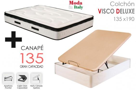 PACK Canapé + Colchón VISCO DELUXE 135x190