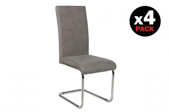 4 sillas salón SAN Gris (31€ /u)
