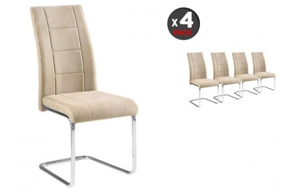 4 sillas salón SAN Beige (31€/ u)