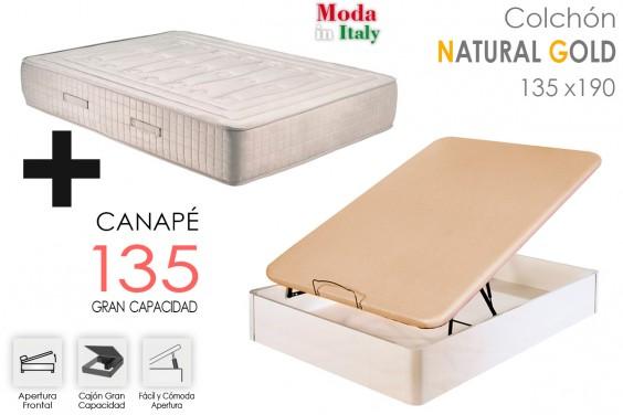 PACK Canapé + Colchón NATURA GOLD 135x190