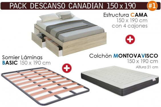 Pack AHORRO Descanso CANADIAN 150x190