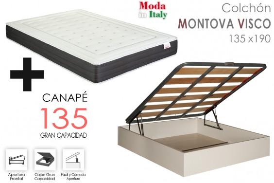 PACK Canapé EKO + Colchón MONTOVA VISCO 135
