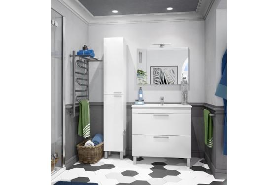 Mueble de Baño LC2-80 1 Puerta 1 Cajón y Espejo